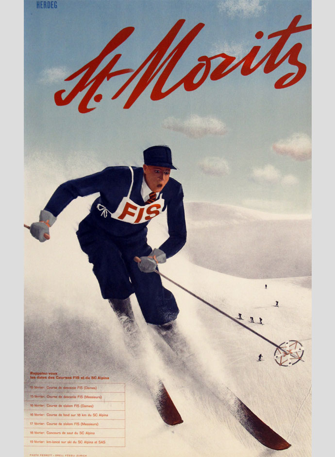 Photo: News media Best 1948 Olympic Winter Games Poster