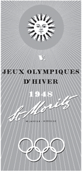 Photo: 1948 Winter Olympics Emblem