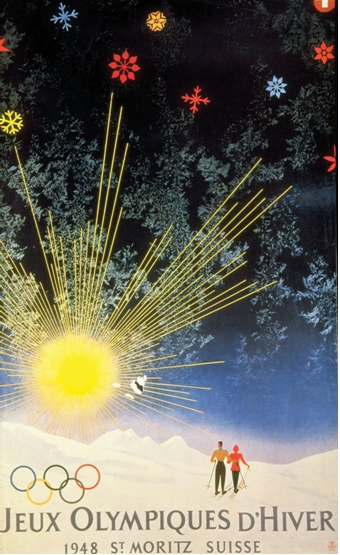 Photo: 1948 Official Olympic Winter Games Poster