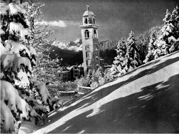 Photo: St. Moritz circa Winter 1948