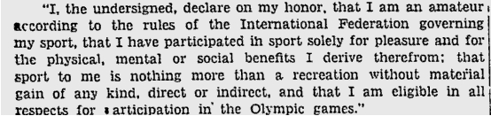 Photo: 1948 Winter Olympic Oath