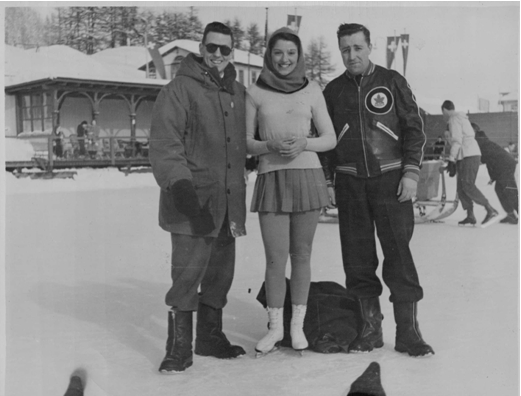 Photo:Irving Taylor, Canadian figure skater Marilyn Ruth Take and RCAF Flyer Trainer George McFaul