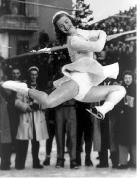 Photo: Barbara Ann Scott skates during Olympic Gold Competition