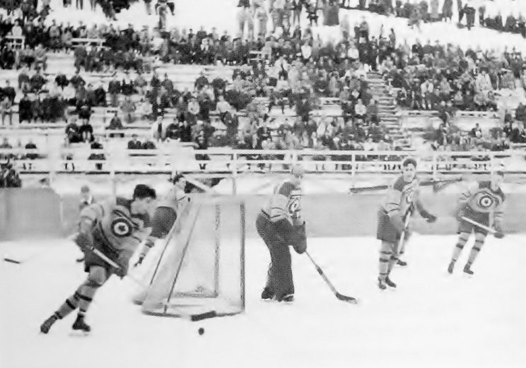 Photo: RCAF Flyer Olympic Game vs Sweden