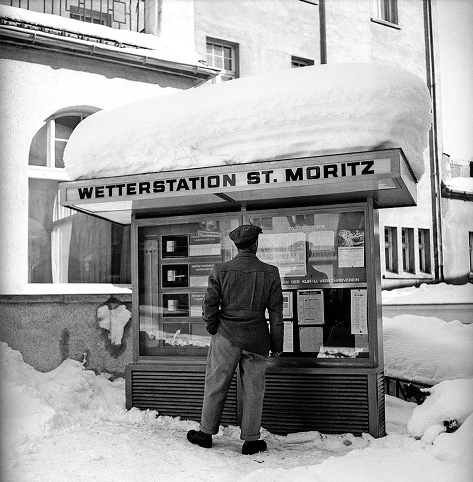 Photo: Weather Station St Moritz 1948 Winter Olympics