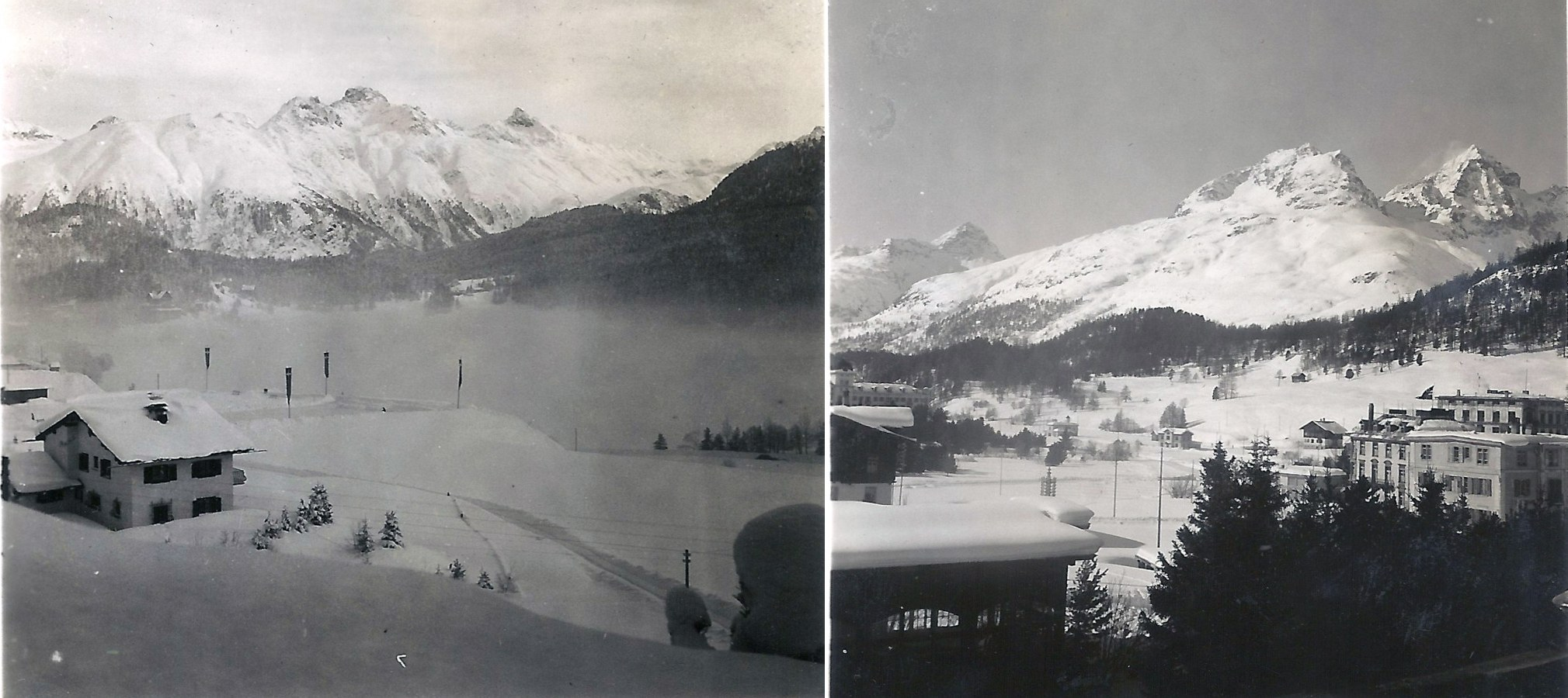 Photo: Views from the Stahlbad Hotel, St.Moritz Switzerland