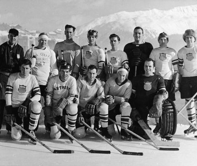 Photo: The USA 1948 Winter Olympic Brundage Hockey Team sanctioned by the US Olympic Committee