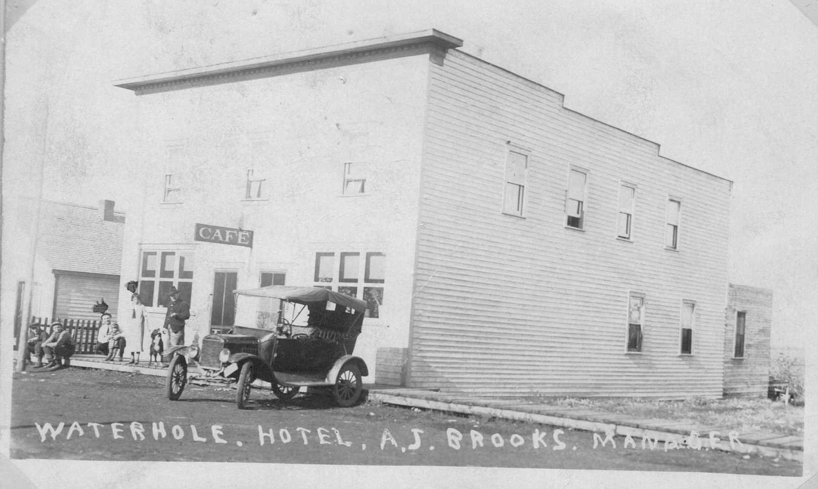 Front View of AJ and Aime Brooks CAFE in Waterhole AB. AJ Brooks Proprietor