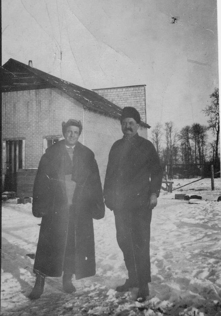 Alfred and Hubert (Rousseau) Brooks in Peace River 1920's