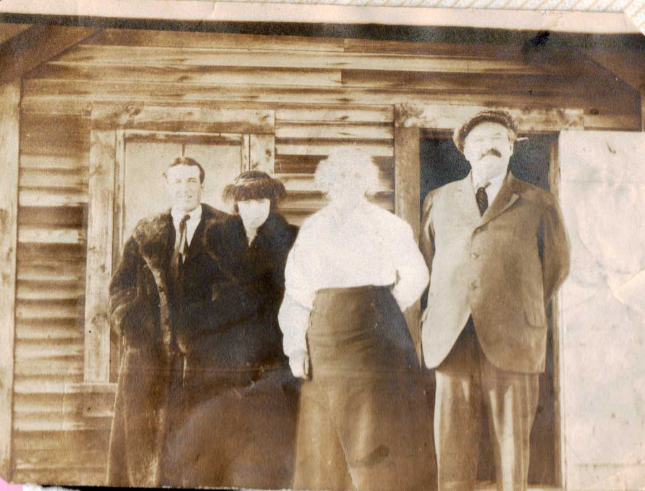Photo of Alfred & Laura Brooks after wedding with Marie & Hubert Brooks