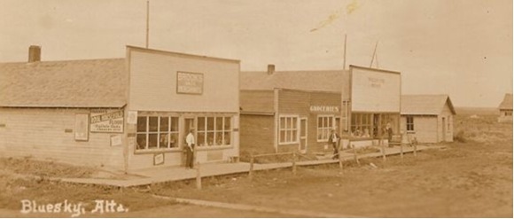 Otto Brooks standing Outside of Brooks General Store