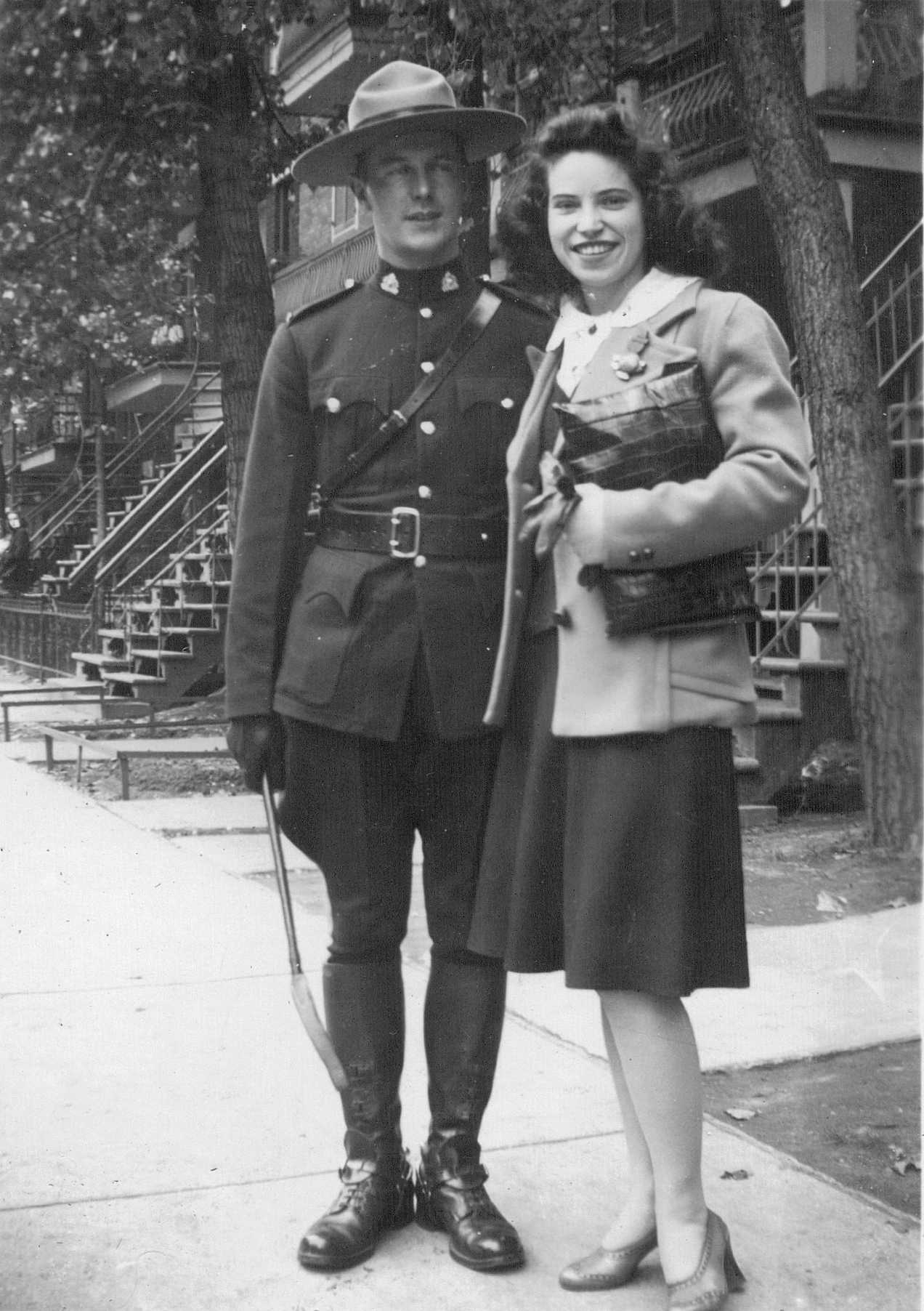 PHOTO of Doris Brooks and Len Gendron (in RCMP uniform)