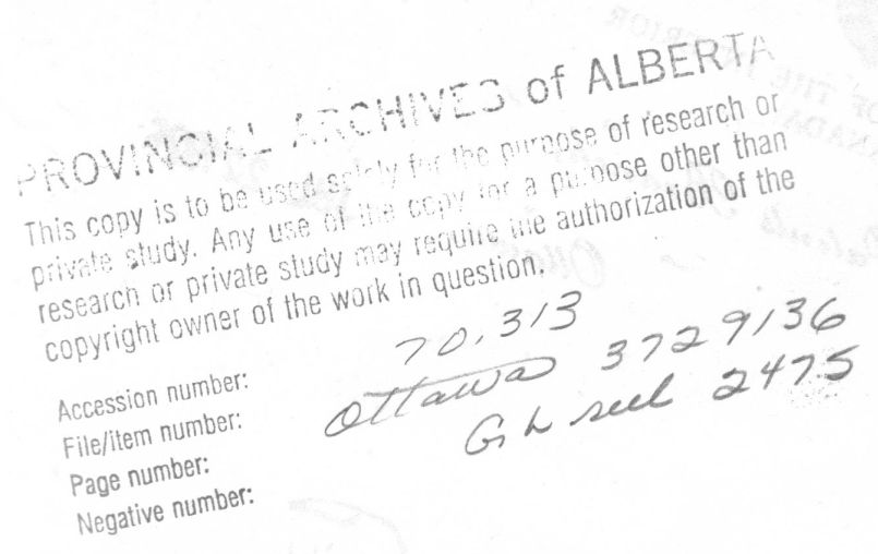 Provincial Archives of Alberta File 3729136 - Aime Brooks - Archives Stamp  Header
