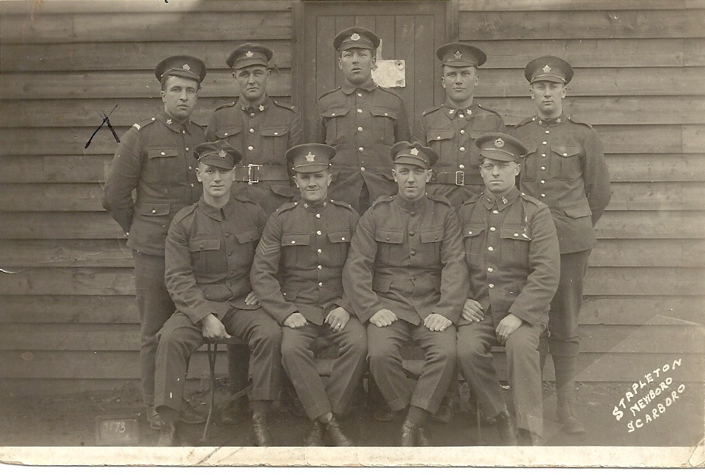 Aimé with his Regiment taken Overseas in UK during WW I