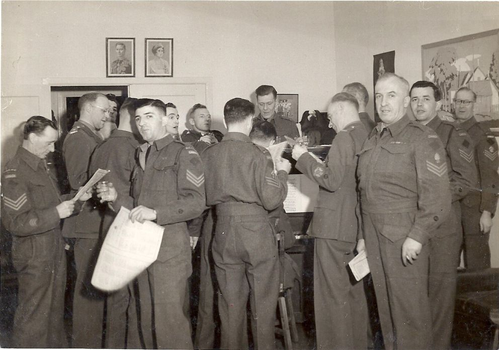 Aime in Sgt Mess in Prince Rupert in 1942