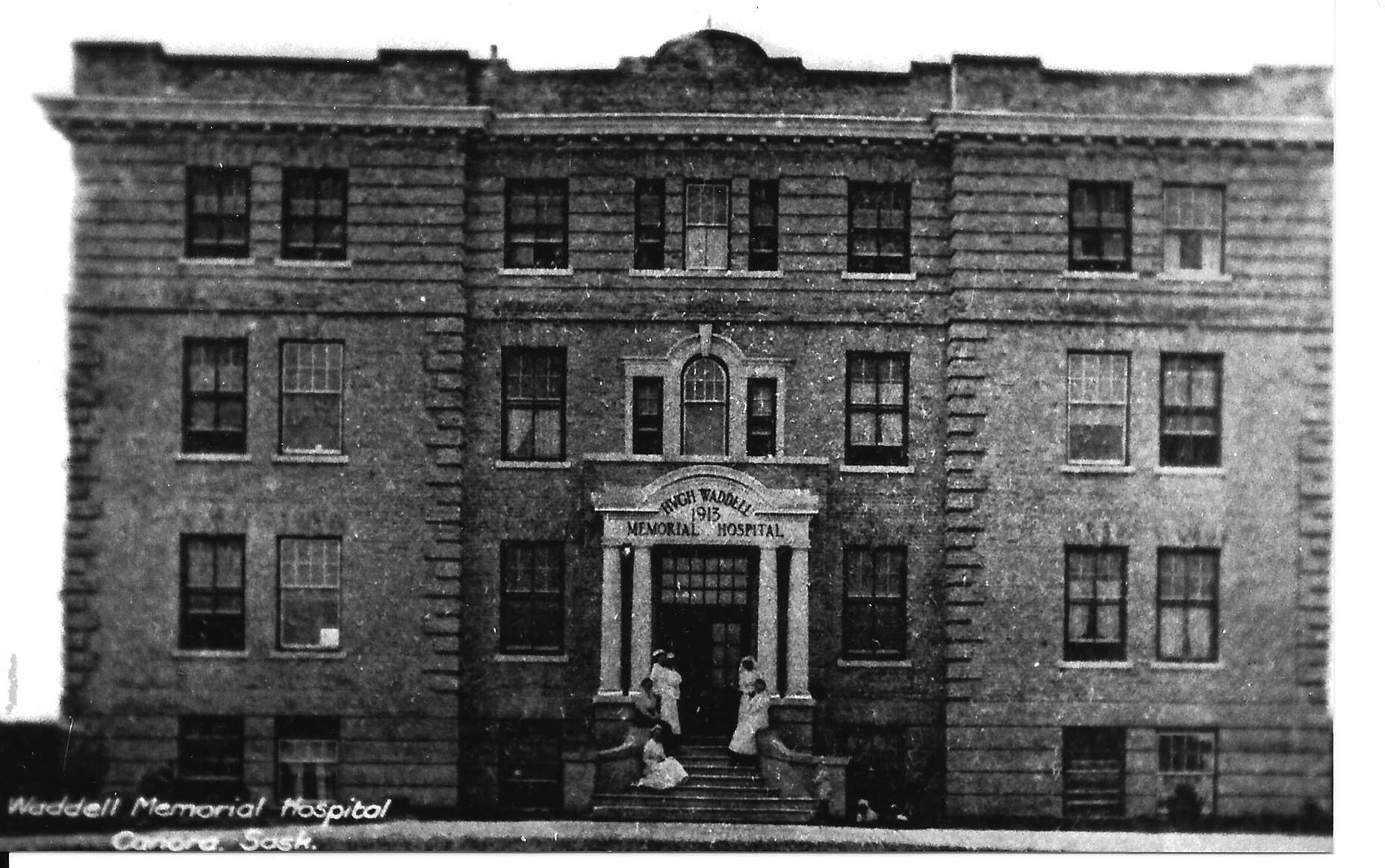 Historical PHOTO of Hugh Waddel Memorial Hospital in Canora Saskatchewan