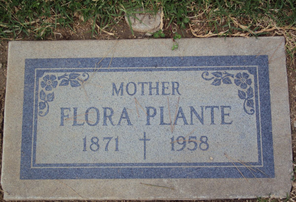 Grave Site (1871- 1958) of Flora Brooks Plante