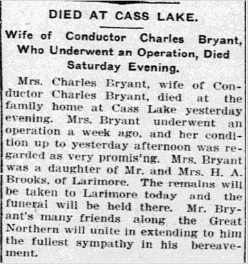 Obit2 for Hattie (Brooks) Bryant