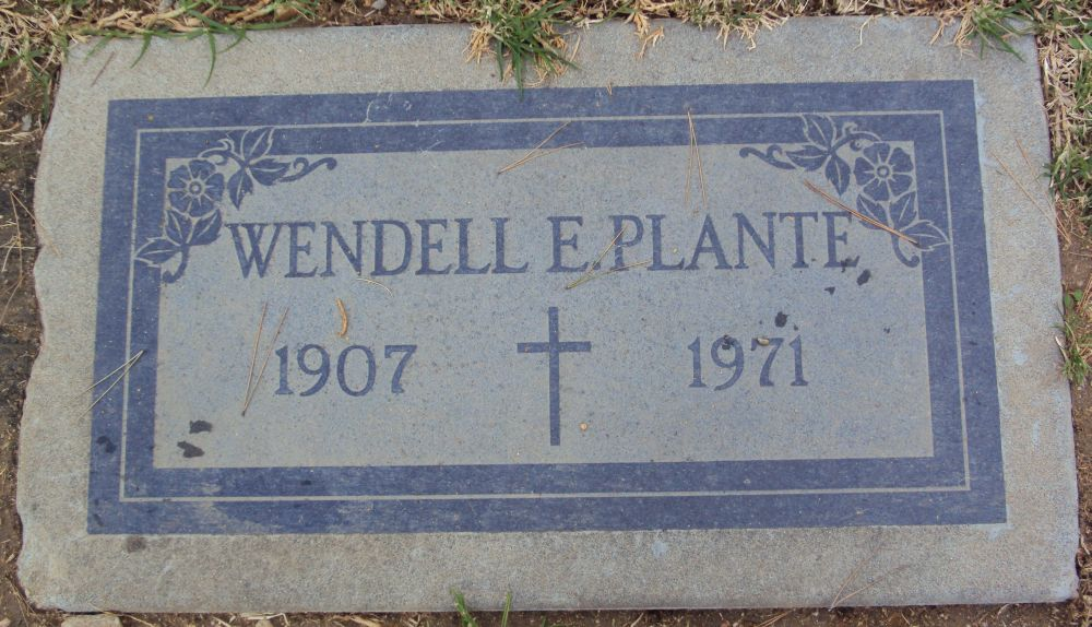 Grave Site (1907 -1971) of Wendell Plante