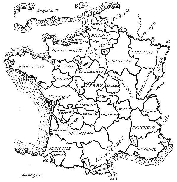 Image Historic Regions of FRANCE