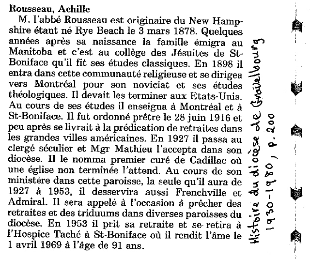Photo: Achille Rousseau Bio Summary