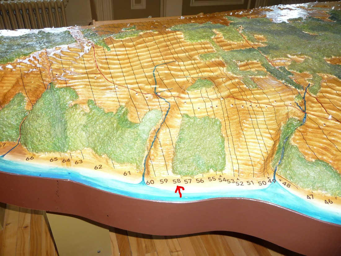 View From South Shore of Model of Ile d'Orleans, Quebec