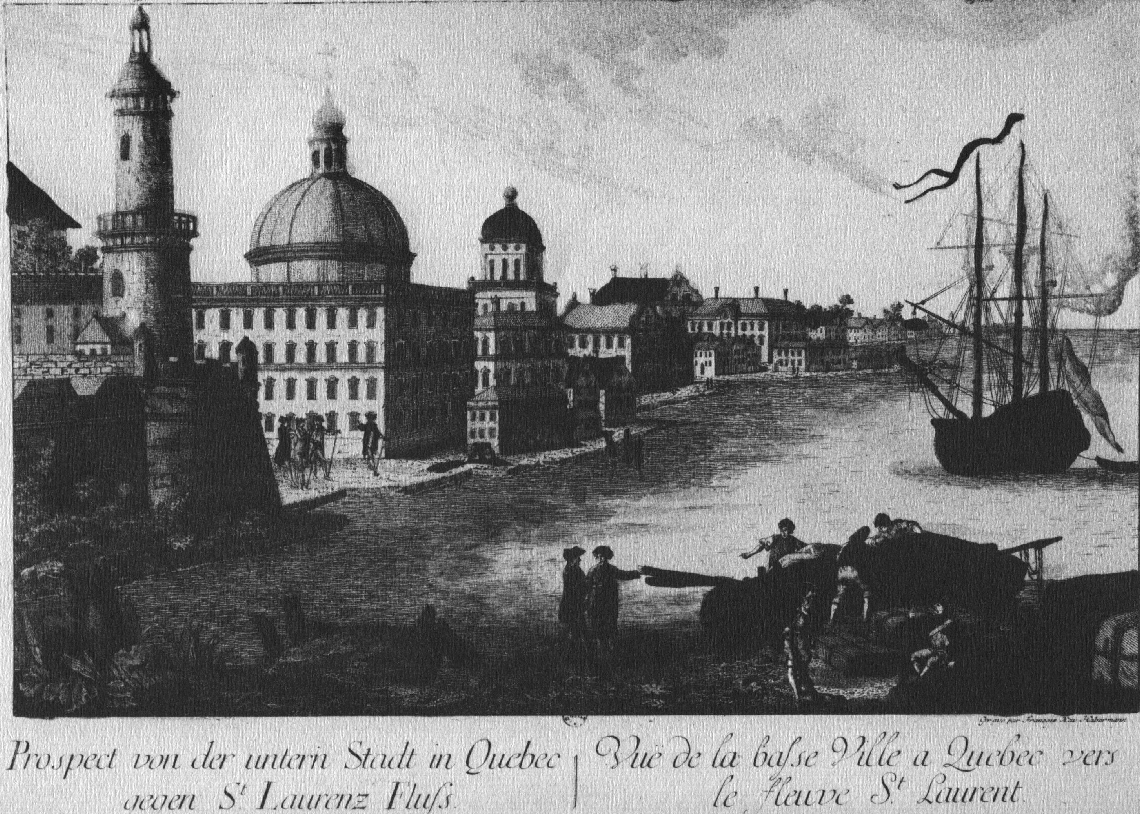 Image of Old Quebec City in NEW FRANCE