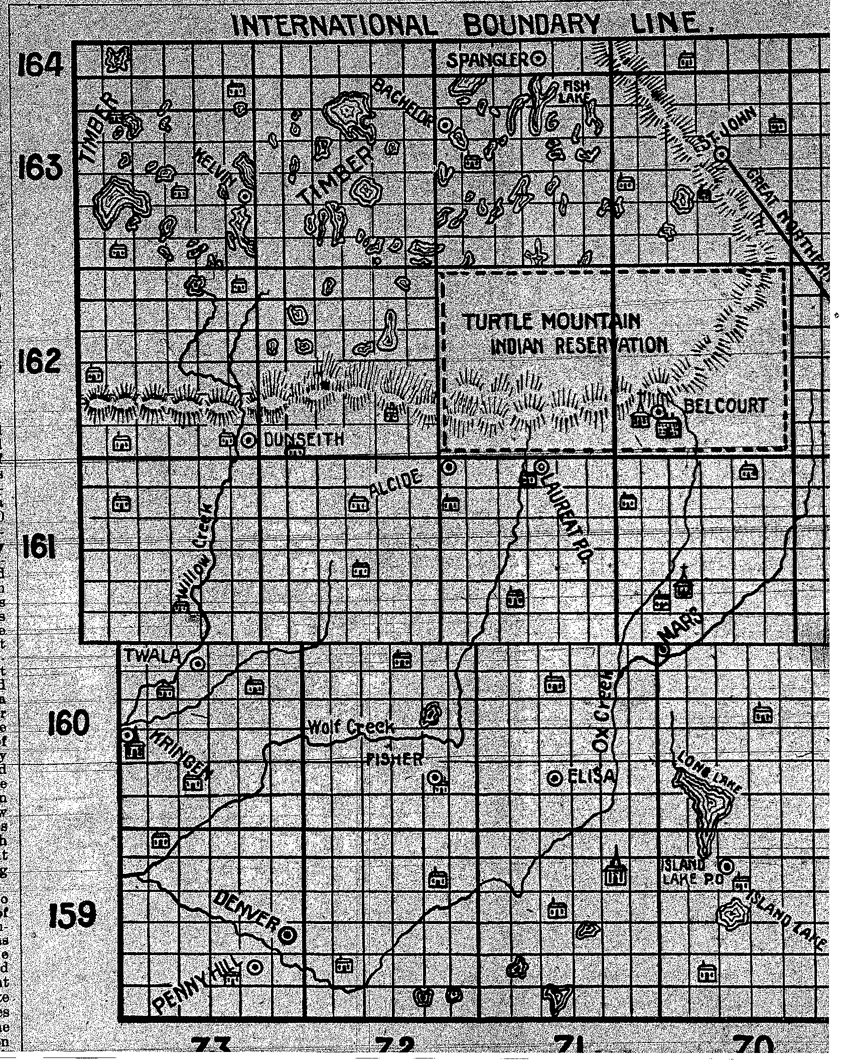 Township/ Range Classification Map for Northern North Dakota (Rolette County)