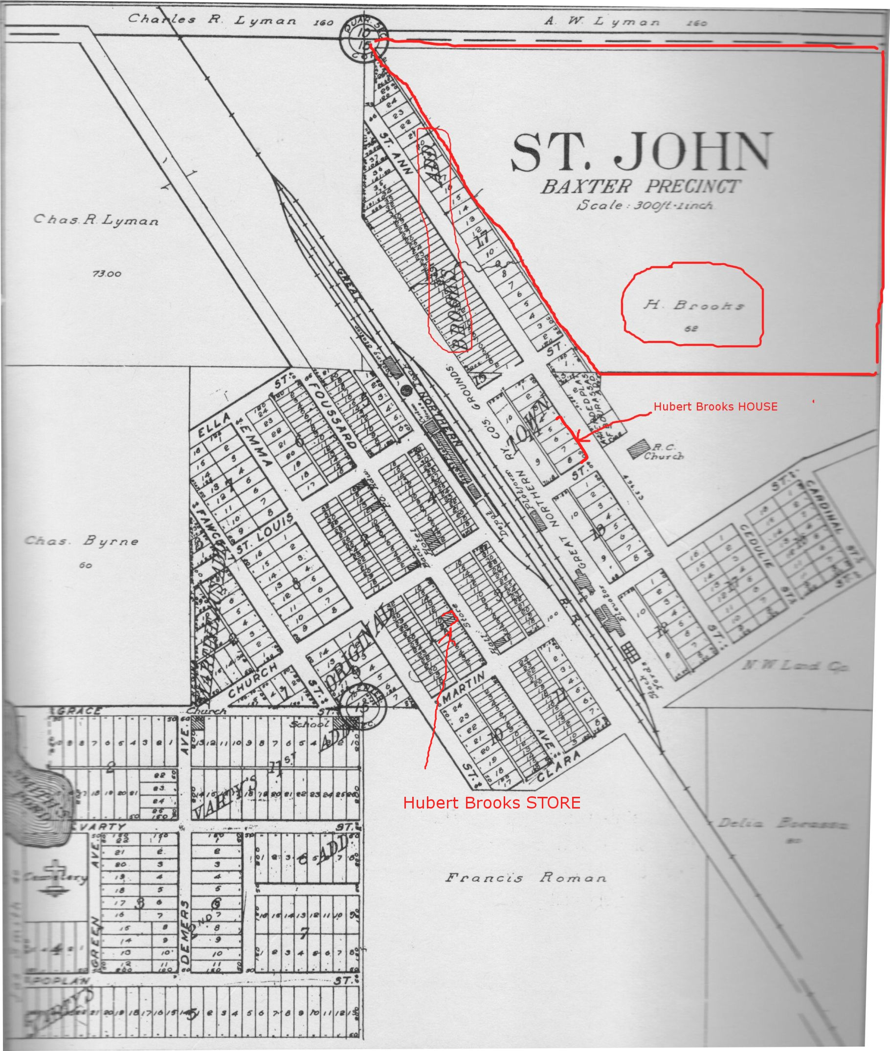 St. John Baxter Precinct Map