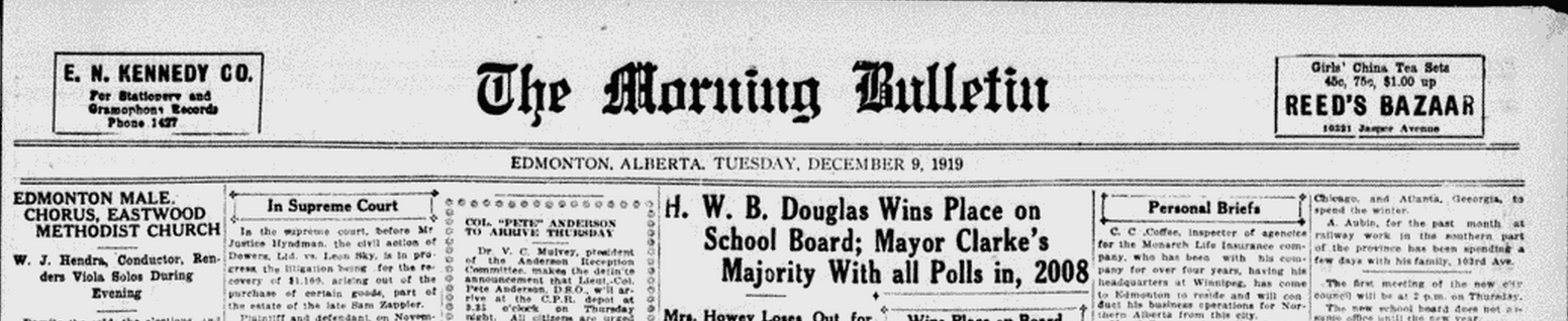 The Morning  Bulletin on Tuesday Dec 9 1919   per A J  Brooks