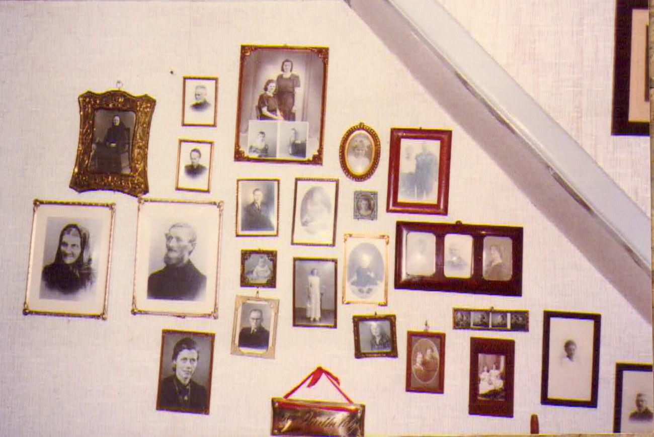 PHOTO of Stairway Wall of Photos at Danish Home of Birthe Brooks