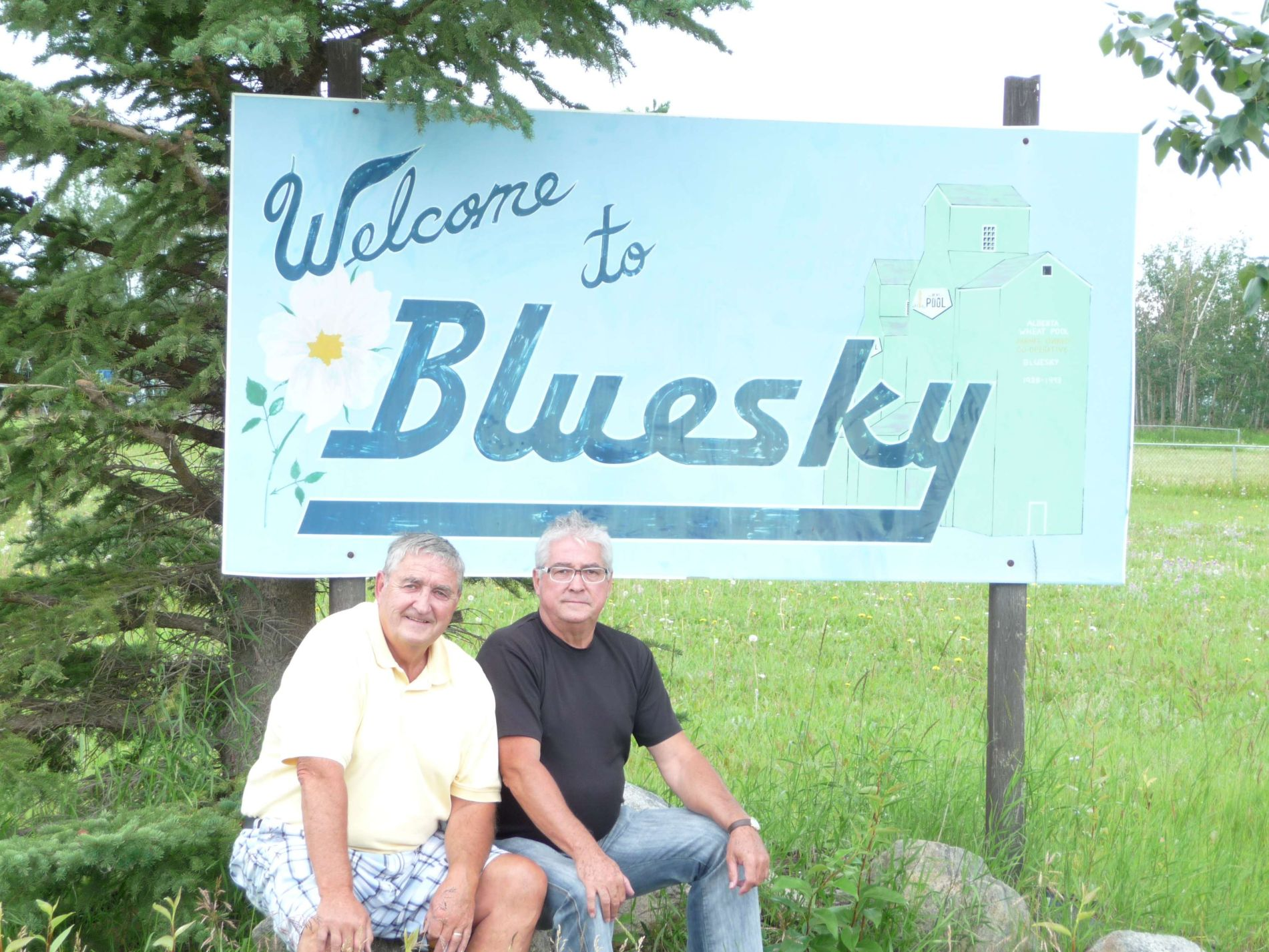 Phil and Hubert at the Entrance to New Bluesky