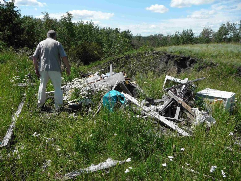 Wood Wreckage Found on Hubert Brooks former Log Cabin site
